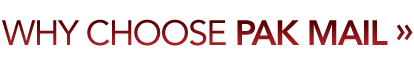 Why Choose Pak Mail